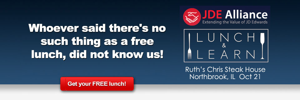 JDE Alliance Lunch and Learn – Northbrook – Redirect